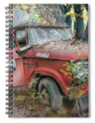 Parked On A Country Road Watercolors Painting Spiral Notebook