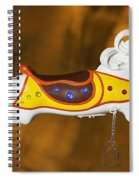 Parker Flying Carousel Horse 1 Spiral Notebook