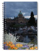 Parliament Building In Victoria At Dusk Spiral Notebook
