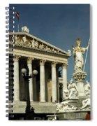 Parliament In Vienna Austria Spiral Notebook