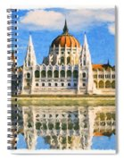 Parliament Of Budapest Spiral Notebook