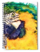 Parrot Ara Watercolor Painting Spiral Notebook