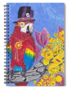 Parrot In Gear Tree Spiral Notebook