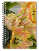 Parrot Tulips And Desert Succulents Spiral Notebook