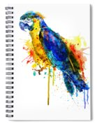 Parrot Watercolor  Spiral Notebook