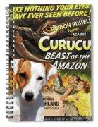 Parson Russell Terrier Art Canvas Print - Curucu  Movie Poster Spiral Notebook