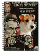 Parson Russell Terrier Art Canvas Print - Rear Window Movie Poster Spiral Notebook