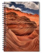 Partly Cloudy At The Wave Spiral Notebook