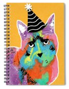 Party Cat- Art By Linda Woods Spiral Notebook