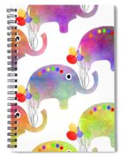 Party Parade - Elephant Children Pattern Spiral Notebook