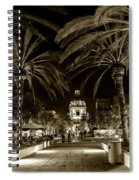 Pasadena City Hall After Dark In Sepia Tone Spiral Notebook