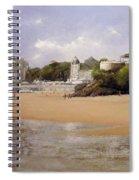 Paseando Por La Playa Del Sardinero Spiral Notebook