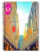 Passage Between Colorful Buildings Spiral Notebook