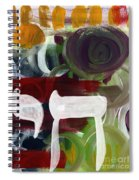 Passages 2- Abstract Art By Linda Woods Spiral Notebook