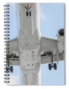 Passenger Jet Coming In For Landing 1  Spiral Notebook