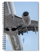 Passenger Jet Coming In For Landing 7 Spiral Notebook