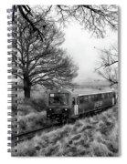 Passenger Train Travel Spiral Notebook