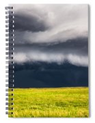 Passing By - Storm Passes By Lone Tree In Western Nebraska Spiral Notebook