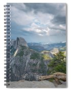Passing Clouds Over Half Dome Spiral Notebook