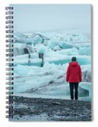 Passing Icebergs  Spiral Notebook