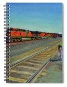 Passing Train Spiral Notebook