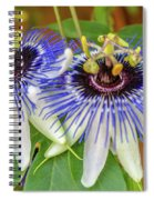 Passion Flower Power Spiral Notebook