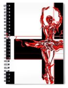 Passions Dance Across The Checkerboard Of Life Spiral Notebook