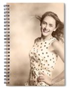 Past Hairstyles Pinup Spiral Notebook