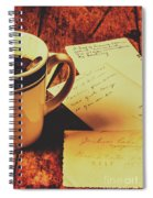 Past Postcard Preoccupations  Spiral Notebook