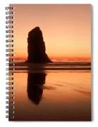 Pastel Evening On The Oregon Coast Spiral Notebook