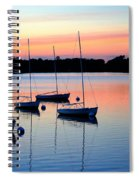 Pastel Lake And Boats Simphony Spiral Notebook