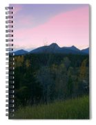 Pastel Mountain Silhouette Spiral Notebook