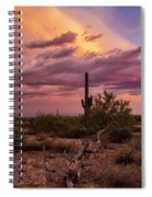 Pastel Sonoran Skies At Sunset  Spiral Notebook