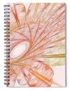 Pastel Spiral Flower Spiral Notebook