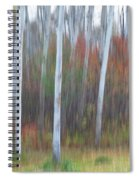 Pastel Tree Abstract Spiral Notebook