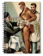 Pasteur Inoculating Man With Rabies Spiral Notebook