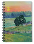 Pastoral Sunset Spiral Notebook