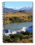 Patagonia Landscape Of Torres Del Paine National Park In Chile Spiral Notebook
