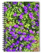 Patch Of Pansies Spiral Notebook