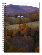 Patch Worked Mountains In Vermont Spiral Notebook