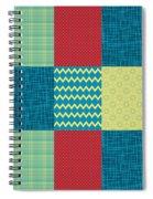Patchwork Patterns - Muted Primary Spiral Notebook