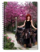 Patchwork Skirt - Hippie Fashion - Pink Spring Spiral Notebook