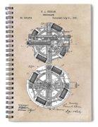 patent art Edison 1888 Phonograph Spiral Notebook