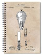 patent art Edison 1892 Incandescent electric lamp Spiral Notebook