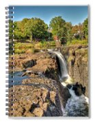 Paterson Water Falls Black And White Spiral Notebook