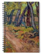 Path In The Garden Of The Asylum, By Vincent Van Gogh, 1889, Kro Spiral Notebook