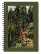 path in the woods 55h34 Ivan Ivanovich Shishkin Spiral Notebook