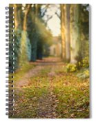 Path Into The Light Spiral Notebook