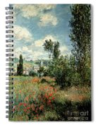 Path Through The Poppies Spiral Notebook