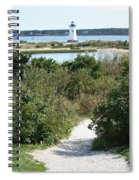 Path To Edgartown Lighthouse Spiral Notebook